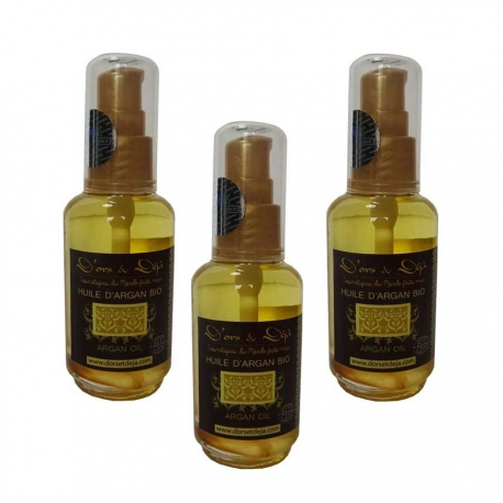 Lot de 3 Huiles d'Argan BIO - 60ml