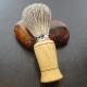 Blaireau de rasage en bois d'Olivier