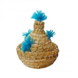 Corbeille vannerie en palmier tréssé