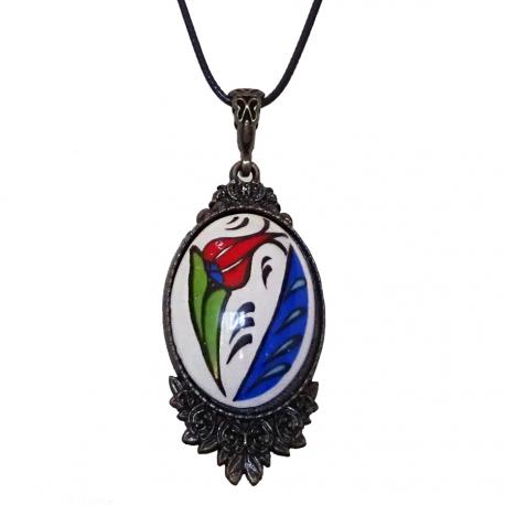 Collier pendentif Céramique d'Iznik