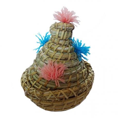 Corbeille Tajin en palmier tréssé